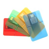 USB FLASH DRIVE PLASTIC CARD TRANSPARENT