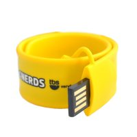 USB FLASH DRIVE SLAP ON SILICONE BRACELET