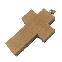 USB FLASH DRIVE WOOD CROSS