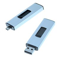 OTG USB 3.0 Flash drive, 16 GB, silver colour (UDM1007)