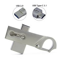 USB FLASH DRIVE CARABINER KEY RING WITH TYPE-C CONNECTOR