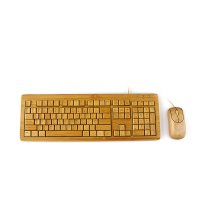 COMBO – BAMBOO MOUSE AND KEYBOARD WITH CABLE