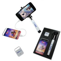 SET – POWER BANK, BLUETOOTH SHUTTER RELEASE FOR SMARTPHONE/IPHONE + SELFIE STICK