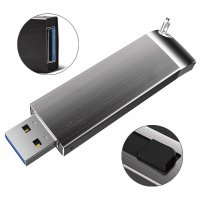Luxury metal USB 3.0 flash drive, 32GB, dark gray colour (UDM1126)