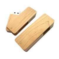WOOD ROTATING USB FLASH DRIVE