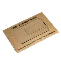 ECOBOX PAPER BOX FOR USB FLASH DRIVE CARDS 7 × 5 cm