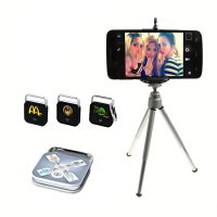 SELFIE SET – BLUETOOTH SHUTTER RELEASE FOR SMARTPHONE/IPHONE + STAND