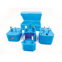MULTIPURPOSE MAINS TRAVEL ADAPTER WITH USB SOCKET