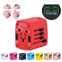 TRAVEL ADAPTER WITH 4 USB PORTS