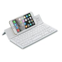 Folding wireless keyboard, colour white (KEY186)
