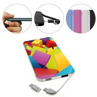 ELEGANT POWER BANK (PORTABLE CHARGER) WITH BUILT-IN CABLE, 5000 mAh
