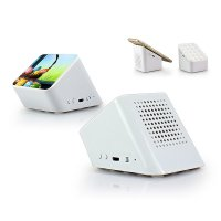 Bluetooth speaker and stand with suction cups, 2 in 1, white colour (SPE072)