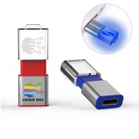 ILLUMINATED RETRACTABLE USB FLASH DRIVE MAGIC WITH 2D LOGO ON THE ACRYLIC PART