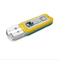SLIM PLASTIC USB FLASH DRIVE WITH EPOXY LOGO