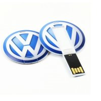 PLASTIC USB FLASH DRIVE ROUND