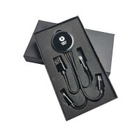 3-IN-1 USB POWER CABLE WITH LED LOGO IN GIFT BOX