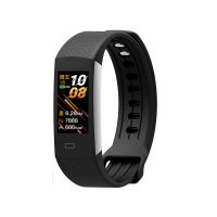 Fitness band with heart rate and blood pressure monitor, black colour (BRA027)