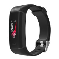 Fitness bracelet with GPS and lots of functions, black colour (BRA043)