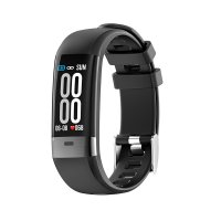 Fitness bracelet with heart rate, blood pressure and ECG (EKG) monitor, black colour (BRA044)