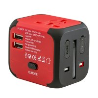 UNIVERSAL TRAVEL ADAPTER WITH 2 USB PORTS