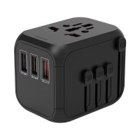 QC3.0 FAST-CHARGING UNIVERSAL TRAVEL ADAPTER WITH 2 USB PORTS