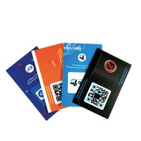 CARD WITH SELF-ADHESIVE CAMERA COVER AND MICROFIBRE DISPLAY CLEANER, ALL WITH FULL COLOUR PRINTING