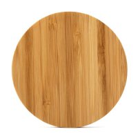 10W INDUCTION QI CHARGING BASE (WIRELESS CHARGER) BAMBOO, CIRCLE