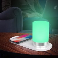 2-IN-1 TOUCH TABLE LAMP WITH WIRELESS QUICK-CHARGING PAD