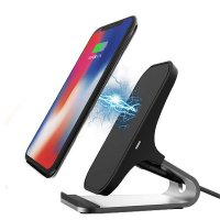 METAL STAND FOR A CELL PHONE WITH 10 W WIRELESS CHARGING