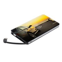 WIRELESS POWER BANK WITH BUILT-IN CABLES, 5000 MAH