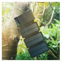 POWER BANK WITH 3 SOLAR PANELS, 10000 MAH