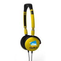 FOLDING HEADPHONES WITH MICROPHONE AND THE OPTION OF CMYK PRINTING