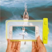 WATERPROOF MOBILE PHONE CASE WITH ILLUMINATED STRIP AND LANYARD