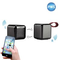 SET OF 2 MINI CUBE BLUETOOTH SPEAKERS WITH TWS FUNCTION