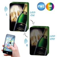 TWS SET OF TWO BLUETOOTH SPEAKERS WITH LED LOGO