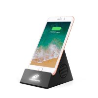 3-IN-1 BLUETOOTH SPEAKER, STAND AND WIRELESS CHARGER WITH LED LOGO