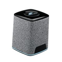 BLUETOOTH SPEAKER WITH TEXTILE SURFACE AND LED LOGO
