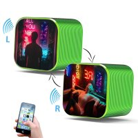TRUE WIRELESS STEREO (TWS) SET OF TWO BLUETOOTH SPEAKERS WITH HIGH-QUALITY SOUND