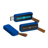 RETRACTABLE USB FLASH DRIVE WITH LED LOGO