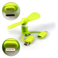 UNIVERSAL MINI USB FAN FOR MOBILE PHONES WITH THREE CONNECTORS