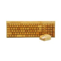 COMBO – BAMBOO WIRELESS MOUSE AND KEYBOARD, 2.4 GHZ