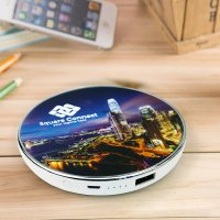 INDUCTION QI POWER BANK (WIRELESS PORTABLE CHARGER) WITH THE OPTION OF LED LOGO, 2000-5000 mAh
