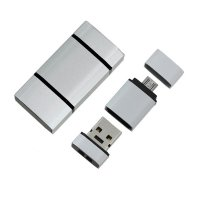 OTG USB 2.0 Mini Flash drive, 4 GB, silver colour (UDM1006)