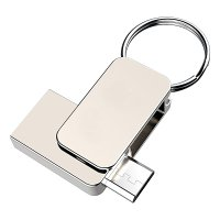 OTG USB 2.0 flash drive mini with USB MICRO connector, 16GB, silver colour (UDM1142)