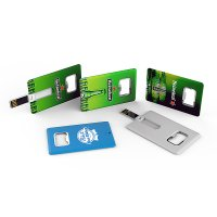 USB FLASH CARD WITH BOTTLE OPENER