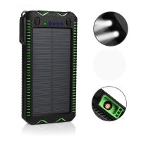 WATER RESISTANT SOLAR POWER BANK WITH TORCH AND LIGHTER, 12000 mAh