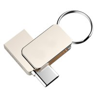 OTG USB 3.0 flash drive mini with TYPE - C connector, 16GB, silver colour (UDM1142C)