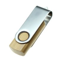 USB FLASH DRIVE BAMBOO TWISTER