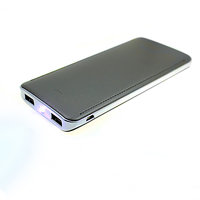 LUXURY DUAL POWER BANK, WITH 2.0A QC QUICK CHARGE OPTION , LED TORCH, 8000/10000 mAh