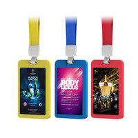 PRACTICAL POWER BANK (PORTABLE CHARGER) WITH LANYARD AND LED BACKLIT BUSINESS CARD SLOT, 1000-6000 mAh